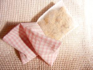 もぐさカイロの作り方④ 内袋は通気性の良いもので